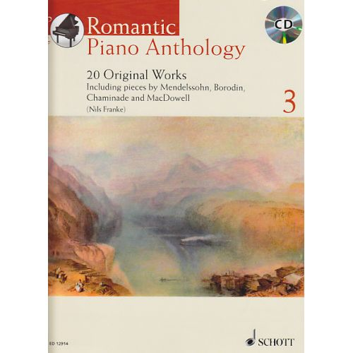 SCHOTT ROMANTIC PIANO ANTHOLOGY VOL.3 + CD - PIANO