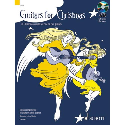 SCHOTT GUITARS FOR CHRISTMAS + CD - 1-2 GUITARS