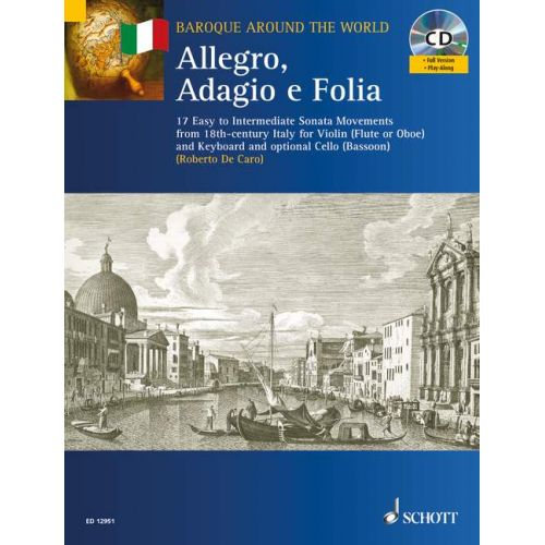 SCHOTT ALLEGRO, ADAGIO E FOLIA - VIOLIN AND PIANO; CELLO AD LIB.