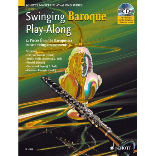 SCHOTT SWINGING BAROQUE PLAY-ALONG + CD - CLARINET
