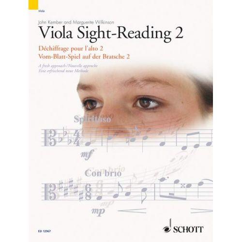 SCHOTT VIOLA SIGHT-READING 2 VOL. 2 - VIOLA