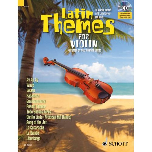 SCHOTT LATIN THEMES FOR VIOLIN + CD - VIOLIN