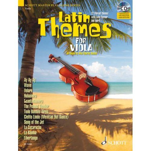 SCHOTT LATIN THEMES FOR VIOLA + CD - VIOLA