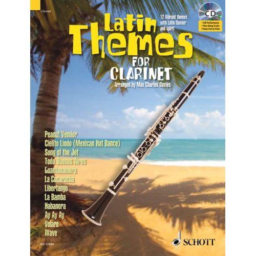 SCHOTT LATIN THEMES FOR CLARINET + CD - CLARINET