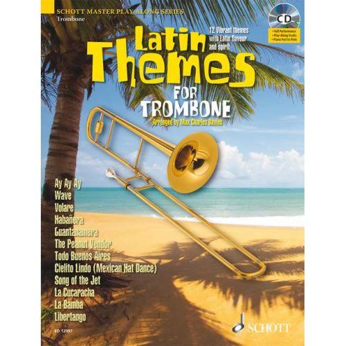 SCHOTT LATIN THEMES FOR TROMBONE + CD - TROMBONE