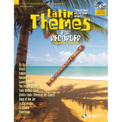 SCHOTT LATIN THEMES FOR ALTO RECORDER - TREBLE RECORDER