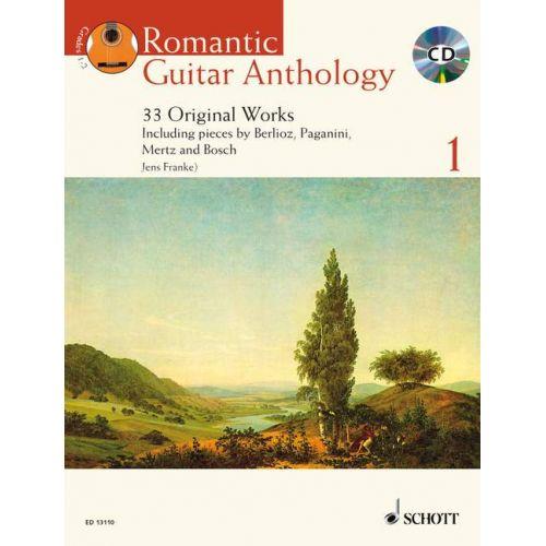 SCHOTT FRANKE JENS - ROMANTIC GUITAR ANTHOLOGY VOL. 1 + CD - GUITAR