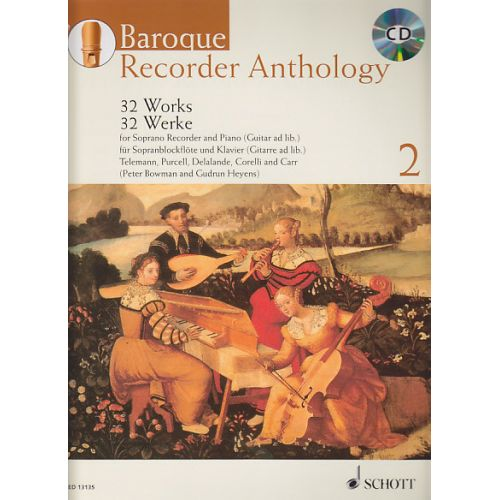 SCHOTT BOWMAN P./ HEYENS G. - BAROQUE RECORDER ANTHOLOGY VOL.2 + CD