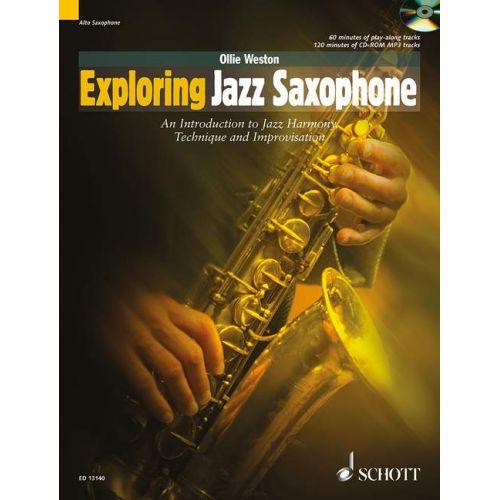 SCHOTT WESTON OLLIE - EXPLORING JAZZ SAXOPHONE + CD - ALTO SAXOPHONE