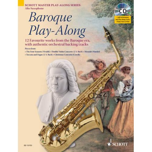 SCHOTT BAROQUE PLAY-ALONG - ALTO SAXOPHONE