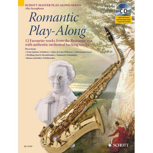 SCHOTT ROMANTIC PLAY-ALONG + CD - ALTO SAXOPHONE