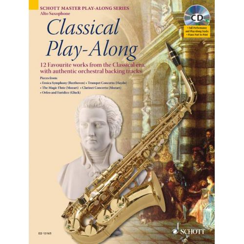 SCHOTT CLASSICAL PLAY-ALONG + CD - ALTO SAXOPHONE