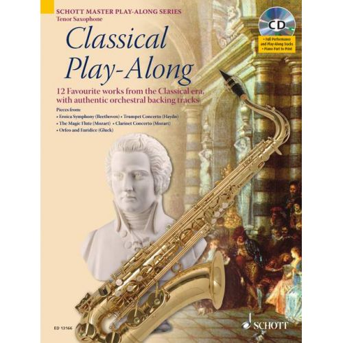 SCHOTT CLASSICAL PLAY-ALONG + CD - TENOR SAXOPHONE