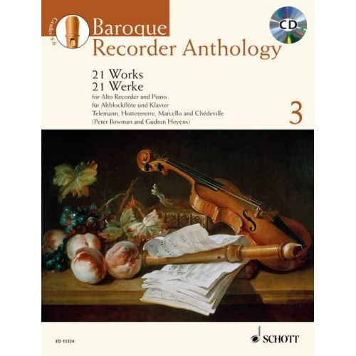 SCHOTT BOWMAN P./ HEYENS G. - BAROQUE RECORDER ANTHOLOGY VOL.3 + CD