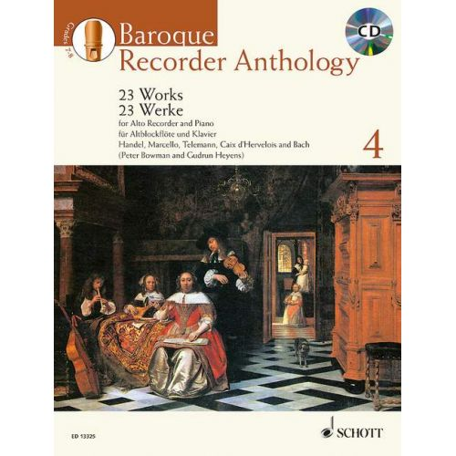SCHOTT BOWMAN P./ HEYENS G. - BAROQUE RECORDER ANTHOLOGY VOL.4 + CD