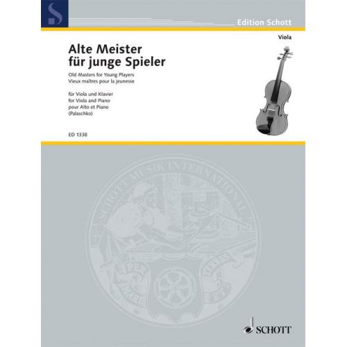 SCHOTT OLD MASTERS FOR YOUNG PLAYERS - VIOLA AND PIANO