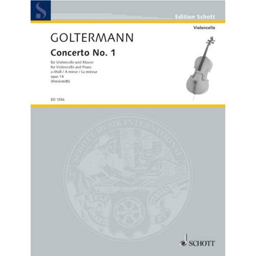 SCHOTT GOLTERMANN - CONCERTO N°1 A-MOLL OP.14 - VIOLONCELLE / PIANO
