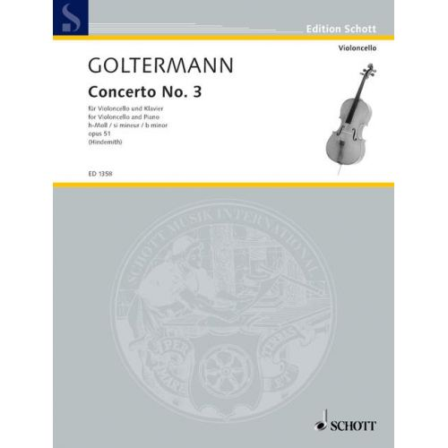 SCHOTT GOLTERMANN GEORGE - CELLO CONCERTO OP. 51 - CELLO AND PIANO