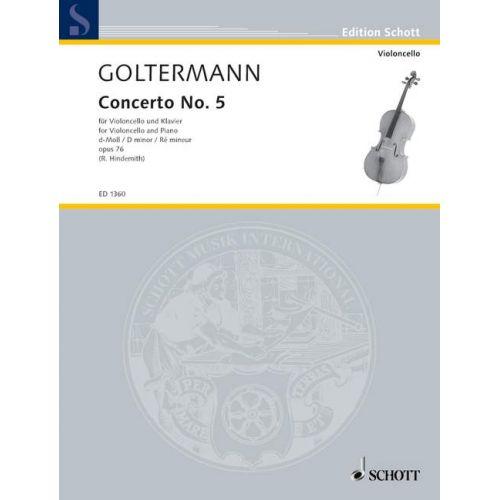 SCHOTT GOLTERMANN GEORGE - CELLO CONCERTO OP. 76 - CELLO AND PIANO