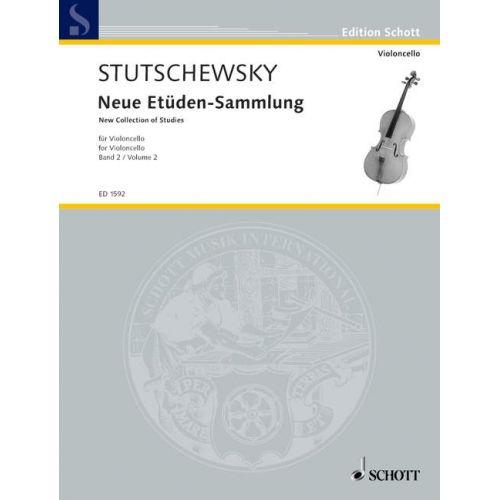 SCHOTT STUTSCHEWSKY JOACHIM - NEW COLLECTION OF STUDIES BAND 2 - VIOLONCELLO