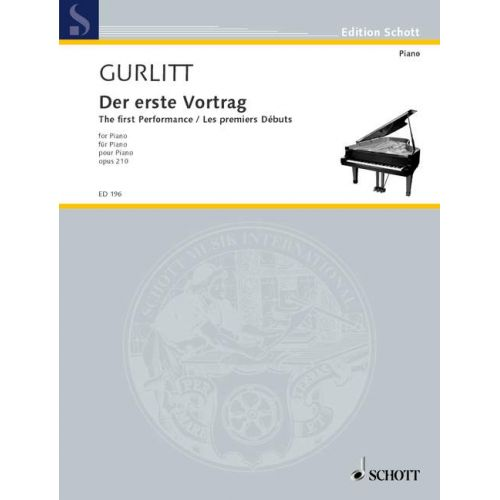 SCHOTT GURLITT CORNELIUS - THE FIRST LECTURE OP. 210 - PIANO