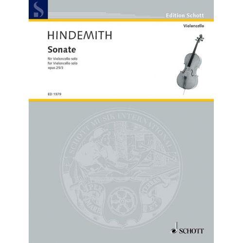 SCHOTT HINDEMITH PAUL - SONATA OP. 25/3 - CELLO