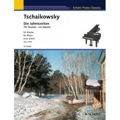 SCHOTT TCHAIKOVSKY PETER ILJITSCH - THE SEASONS OP. 37BIS - PIANO
