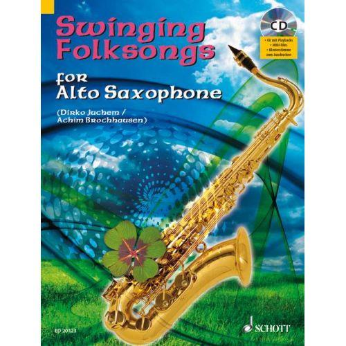 SCHOTT SWINGING FOLKSONGS FOR ALTO SAXOPHONE - ALTO SAXOPHONE