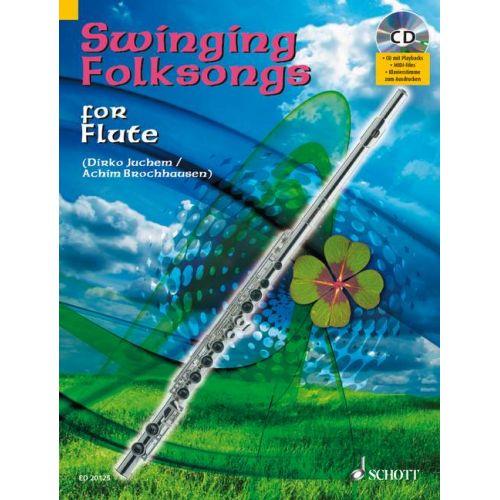 SCHOTT SWINGING FOLKSONGS + CD - FLUTE