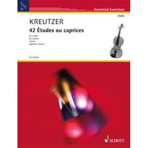 SCHOTT KREUTZER R. - 42 ETUDES OU CAPRICES - VIOLON