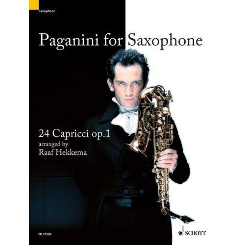 SCHOTT PAGANINI NICCOLÒ - PAGANINI FOR SAXOPHONE OP. 1 - SOPRANO- OR ALTOSAXOPHONE SOLO