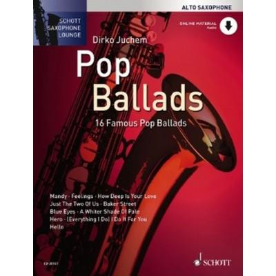 SCHOTT POP BALLADS + CD - ALTO SAXOPHONE