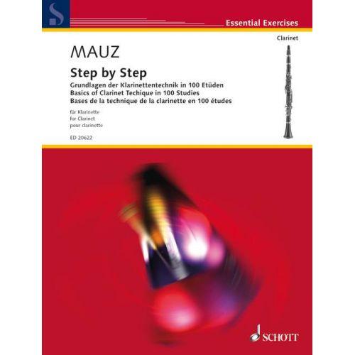 SCHOTT MAUZ R.- STEP BY STEP- CLARINETTE