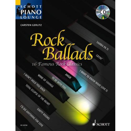 SCHOTT ROCK BALLADS - PIANO