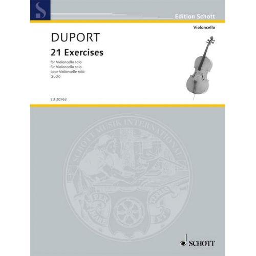SCHOTT DUPORT JEAN-LOUIS - 21 EXERCISES - CELLO