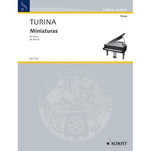 SCHOTT TURINA JOAQUIN - MINIATURES - PIANO