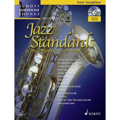 SCHOTT JAZZ STANDARDS - 14 MOST BEAUTIFUL JAZZ SONGS - TENOR SAXOPHONE + CD