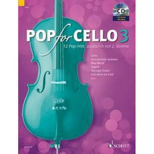 SCHOTT POP FOR CELLO VOL.3 + CD