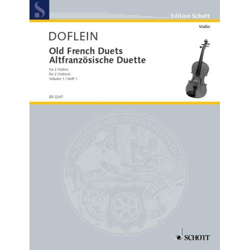 SCHOTT OLD FRENCH DUETS BAND 1 - 2 VIOLINS