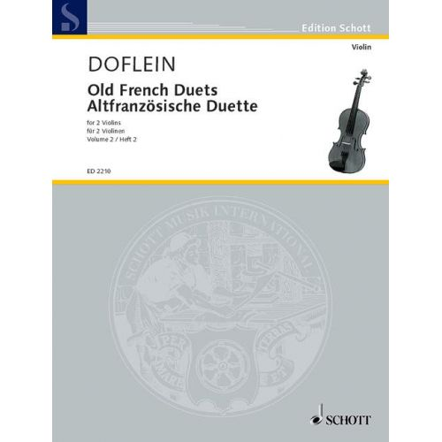 SCHOTT OLD FRENCH DUETS BAND 2 - 2 VIOLINS