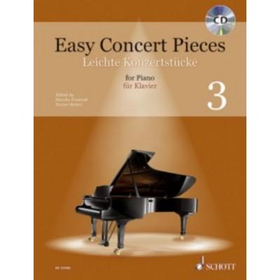 SCHOTT SCHOTT EASY CONCERT PIECES VOL.3 - PIANO