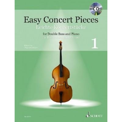 SCHOTT EASY CONCERT PIECES VOL.1 - CONTREBASSE & PIANO