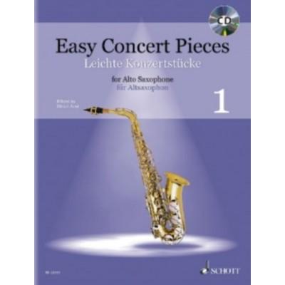 SCHOTT JUNK ULRICH - EASY CONCERT PIECES VOL.1 - SAXOPHONE ALTO