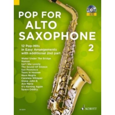 SCHOTT BYE UWE - POP FOR ALTO SAXOPHONE VOL.2 + CD