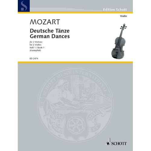 SCHOTT MOZART W.A. - GERMAN DANCES BAND 1 - 2 VIOLINS