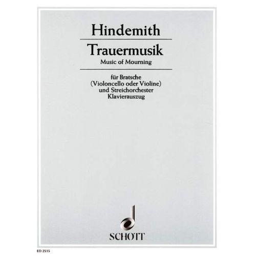 SCHOTT HINDEMITH PAUL - TRAUERMUSIK - ALTO, PIANO