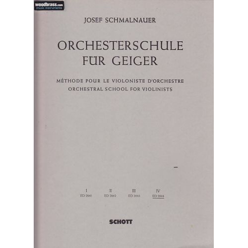 SCHOTT ORCHESTRAL SCHOOL FOR VIOLINISTS BAND 4 - VIOLIN