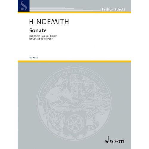 SCHOTT HINDEMITH PAUL - SONATA - COR ANGLAIS AND PIANO