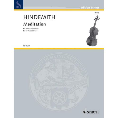 SCHOTT HINDEMITH PAUL - MEDITATION - VIOLA AND PIANO
