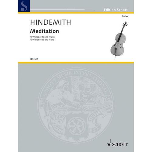 SCHOTT HINDEMITH PAUL - MEDITATION - CELLO AND PIANO